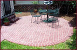 Outdoor Walkways: Brick Look-a-like